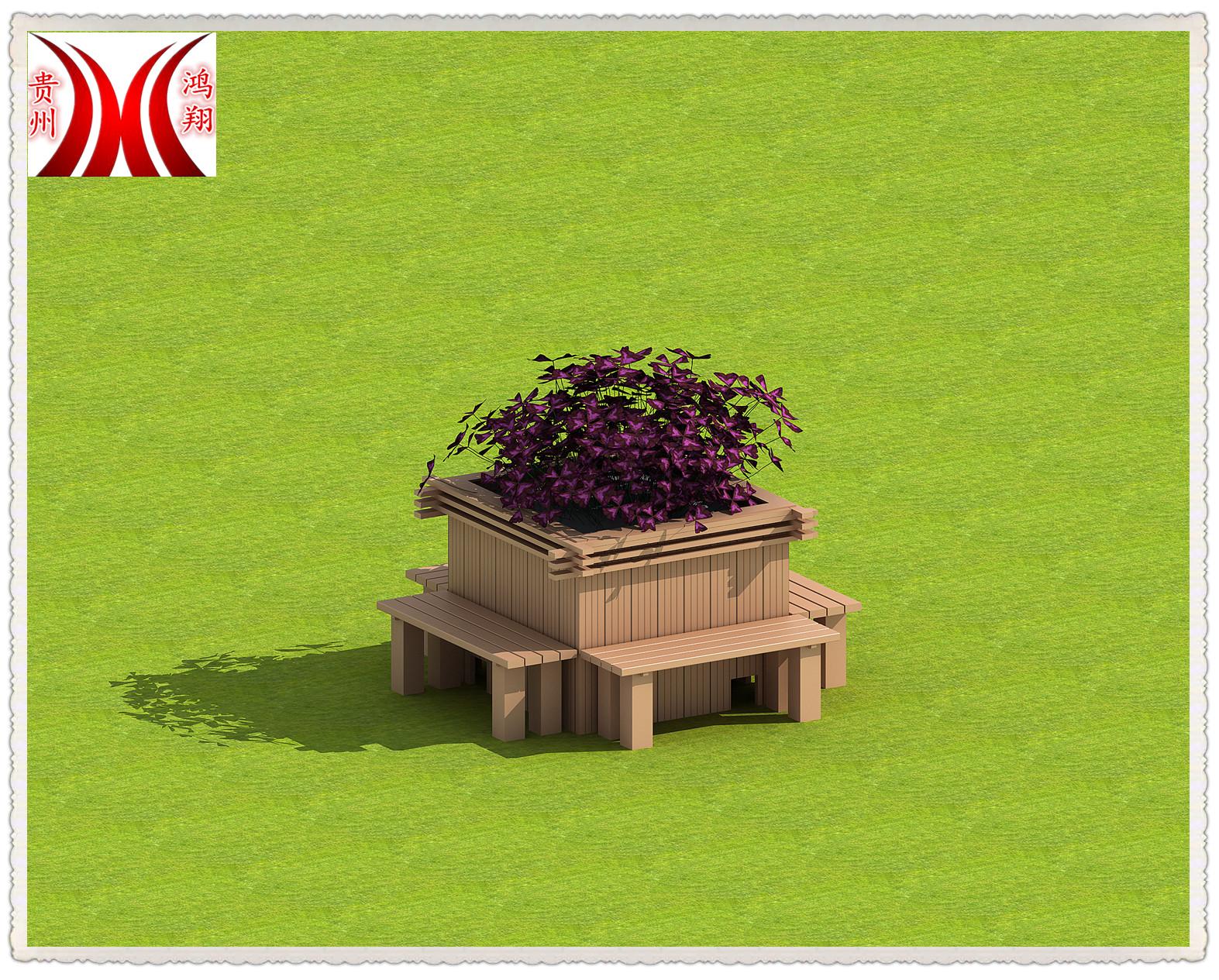 貴州貴陽塑木一體式花箱