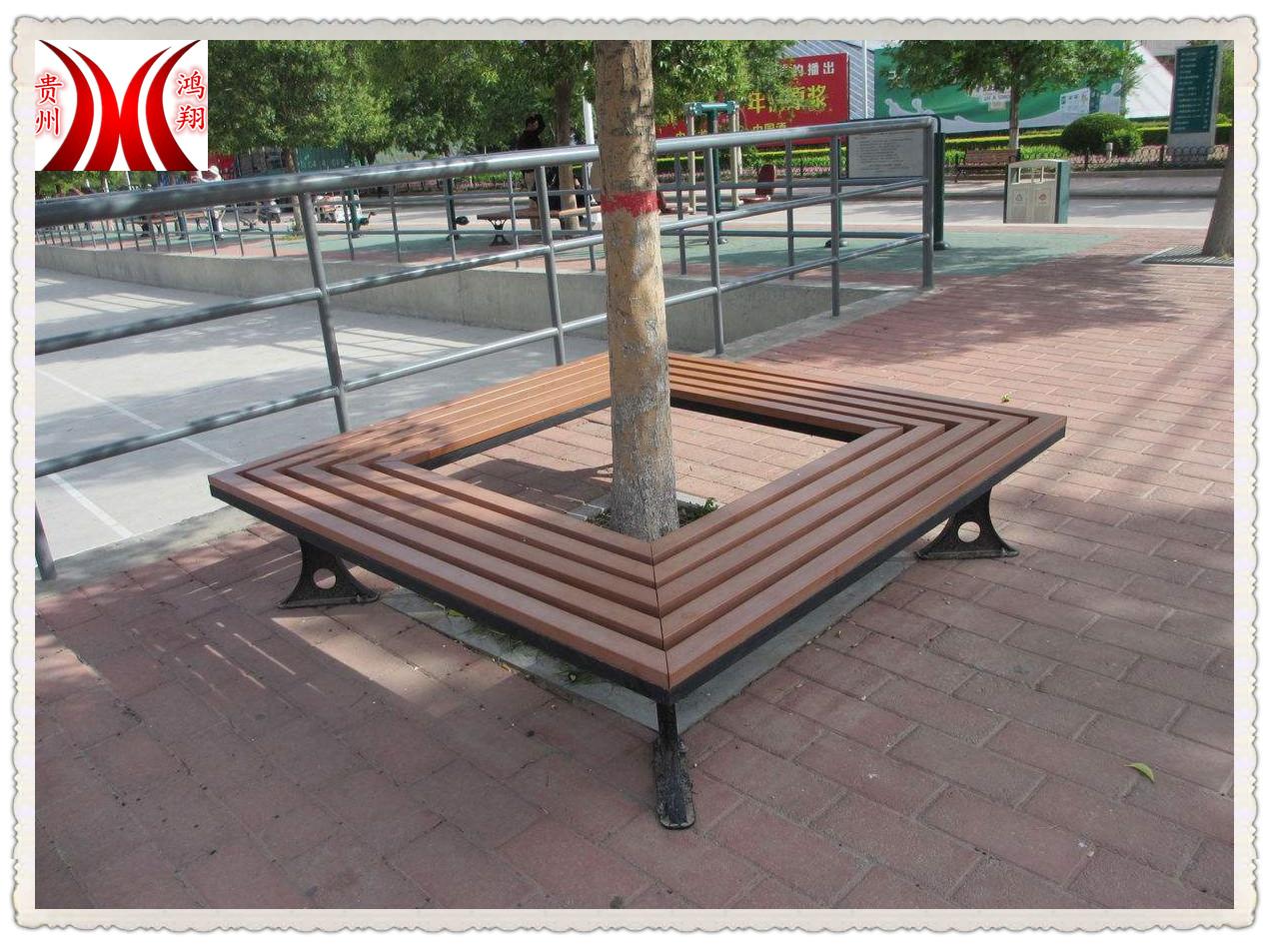 貴州貴陽塑木樹池坐凳